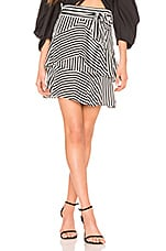 Bardot Cross the Line Skirt in Black & White