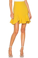 Bardot Laurie Mini Skirt in Mustard