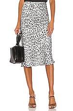 Bardot Mayah Leopard Skirt in Silver Leopard