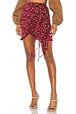 Bardot Kalia Mini Skirt in Burgundy Leopard