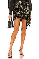 Bardot Ariella Mini Skirt in Lurex Leo