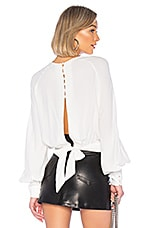 Bardot Tie Back Blouse in Ivory