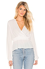 Bardot Shirred Blouse in Ivory