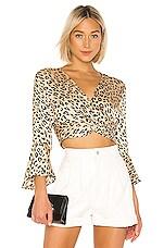 Bardot Twist Leopard Top in Leopard
