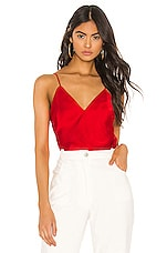 Bardot Cropped Cami in Fire Red