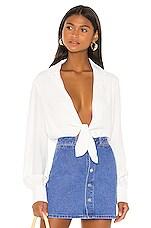 Bardot Shirt Bodysuit in Ivory