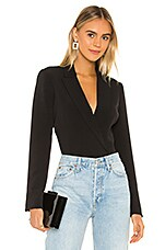 Bardot Blazer Bodysuit in Black
