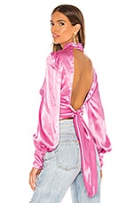Bardot Louise Tie Blouse in Vintage Pink