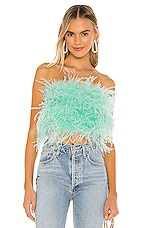 Bardot x REVOLVE Feather Bustier in Mint