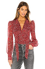 Bardot Floral Ditsy Blouse in Red Ditsy