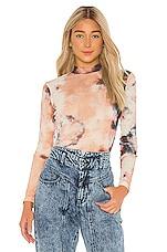 Bardot Mesh Tie Dye Blouse in Multi Dye