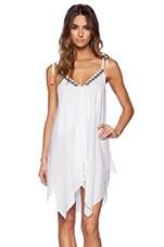 Santorini Dress in White Eyelet