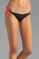 Raglan Reversible Bikini Bottom in Black/Blush