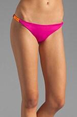 Zunzal Reversible Bikini Bottom in Fuchsia/Peri