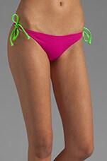 Raglan Reversible Bikini Bottom in Fuchsia/Peri