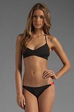 Zunzal Reversible Bikini Top in Black/Ivory