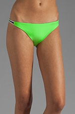 Tonga Reversible Bikini Brief in Peacock/Lime