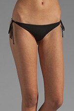 Kikitas Reversible Ruched Bottom in Black/Acid