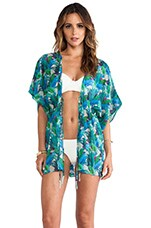 Casita Kaftan in Palm Print