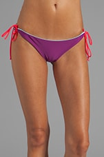 Kikitas Reversible Ruched Bottom in Sailing/Eggplant/Bunny