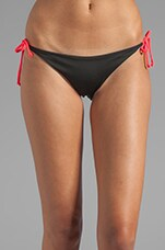 Kikitas Reversible Ruched Bottom in Noir/Navy/Bunny