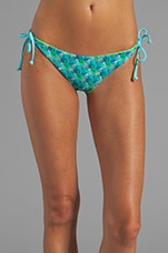 Raglan String Bikini Bottom in Palm Print/White/Sailing