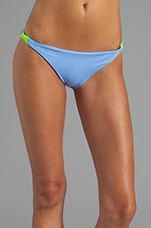Zunzal Reversible Bungee Bikini Bottom in Rodi/Black/Neon Green
