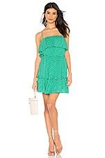 BB Dakota Dot Off The Press Dress in Kelly Green