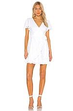 BB Dakota JACK by BB Dakota Easy On The Eyelet Wrap Dress in Optic White