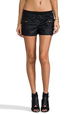 Ionna Embossed Shorts in Black