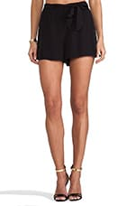 Nayan High Waisted Shorts in Black