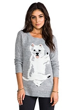 Jack by BB Dakota Colista Dog Pullover in Light Heather Grey
