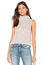 BB Dakota Sweater With Time Sleeveless Sweater in Mauve Rose