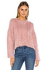 BB Dakota Feelin' Lashy Sweater in Rose Quartz