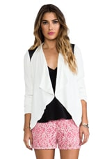 Margo Moto Jacket in Dirty White & Black