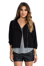 Lynsey Moto Jacket in Black
