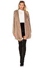 BB Dakota Winsford Faux Fur Jacket in Camel