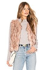 BB Dakota Barbarella Faux Fur Vest in Mauve Rose
