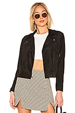 BB Dakota Not Your Baby Faux Suede Jacket in Black