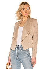 BB Dakota JACK by BB Dakota Quilt Trip Faux Suede Jacket in Medium Khaki