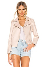 BB Dakota Guest List Faux Leather Jacket in Parchment