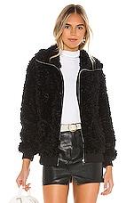 BB Dakota Teddy Or Not Bomber Jacket in Black