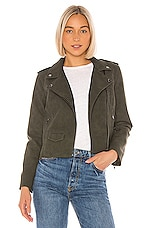 BB Dakota Aint It Cool Faux Suede Jacket in Green Moss