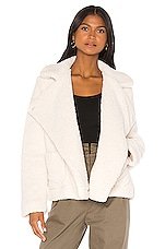 Jack by BB Dakota Soft Skills Teddy Jacket in Ivory