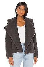 Jack by BB Dakota Soft Skills Teddy Jacket in Dark Charcoal