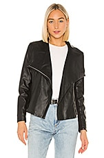 BB Dakota Up To Speed Vegan Leather Jacket in Black