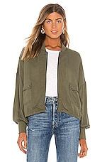 BB Dakota JACK by BB Dakota Flight Club Bomber Jacket in Sage