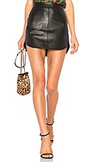 BB Dakota Conrad Leather Skirt in Black