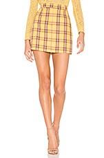 BB Dakota Best I Ever Plaid Skirt in Lemon Drop