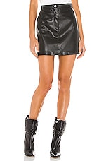 BB Dakota Keep Livin Vegan Leather Mini Skirt in Black